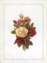 vintage public domain roses card for mothers day
