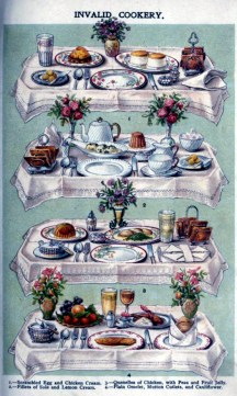 free vintage illustration of elegant table setting from beeton cookery image 2