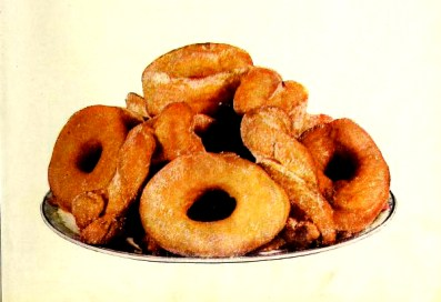 Vintage illustration of doughnuts sprinkled with sugar