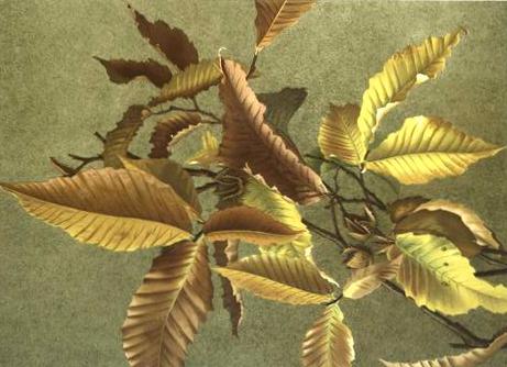 Vintage Autumn Leaves print