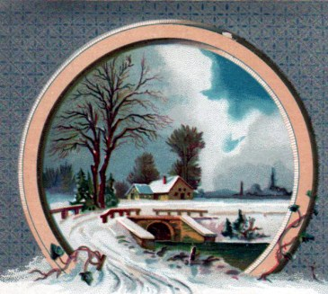 winter illustrations 19th century vintage trade card