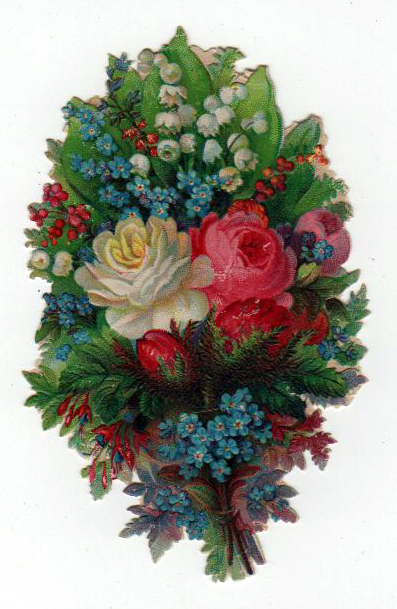 A free 19th century Valentine's Day bouquet