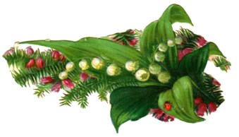 Free Free Valentine's Day pictures - 19th century die cut scrap wit flowers, leaves and ladybug