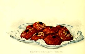 Free vintage dessert illustrations of chocolate bites