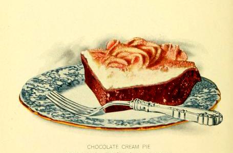 free vintage dessert illustrations of chocolate cream pie