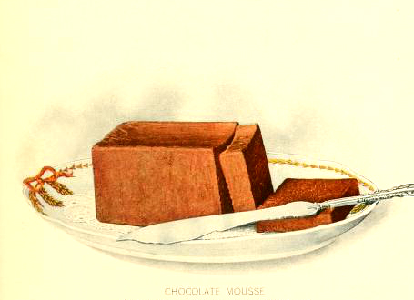 Free chocolate mouse dessert illustrations in the public domain
