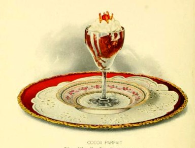 chocolate parfait dessert illustrations early 20th century public domain