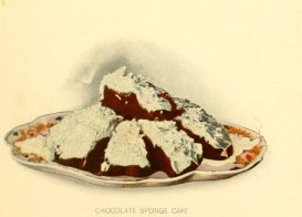 Free chocolate sponge dessert illustrations turn of the century