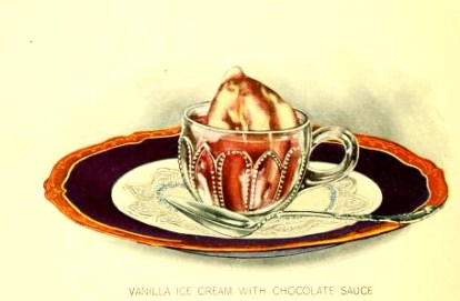 free chocolate sundae dessert illustrations from the early 20th century