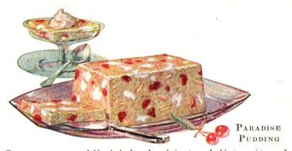vintage jello cookbook paradise pudding