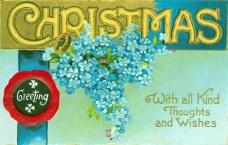 christmas illustration wax seal
