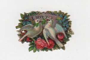 I love you die cut from the 19th century!