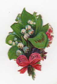 vintage bouquet die cut