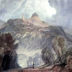 Free public domain vintage landscape of Launceston in England