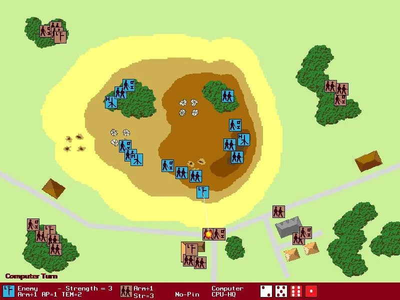 Screenshot of turn-based tactical wargame WarTactical.