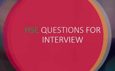 HSE QUESTIONS FOR INTERVIEW V1