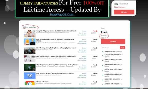 Udemy Paid Course for Free Regular Update