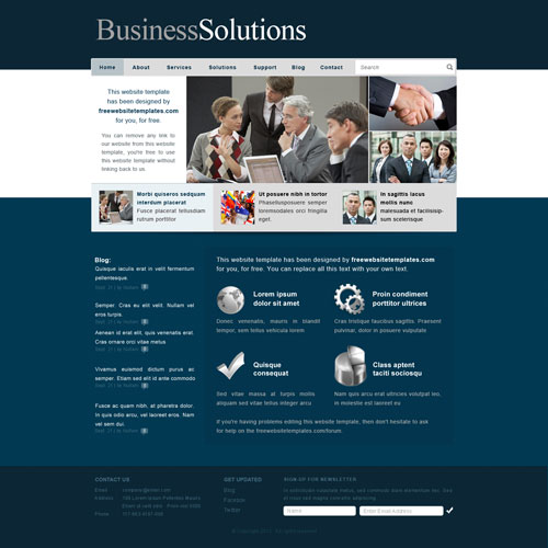 business solutions website template free website templates