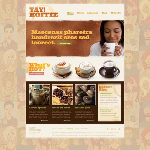 Coffee Shop Web Template Free Website Templates