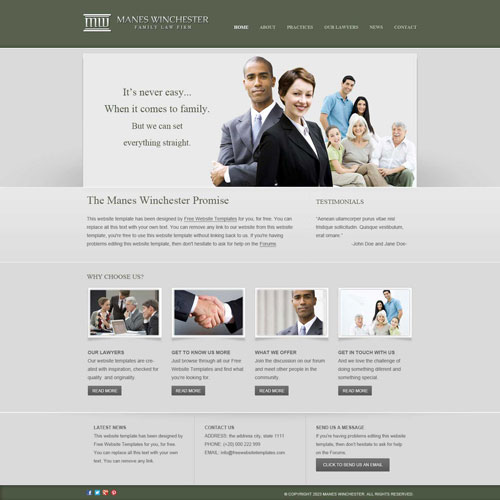 law firm website template free website templates