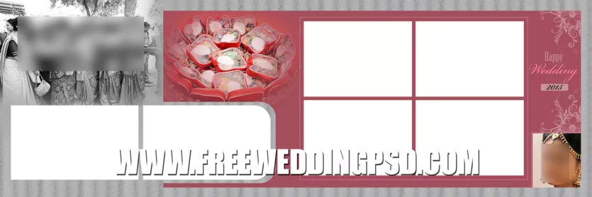 wedding psd templates with album design