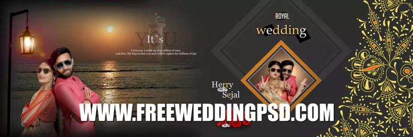 free wedding card psd