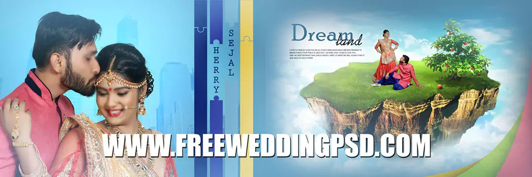 free wedding frame psd