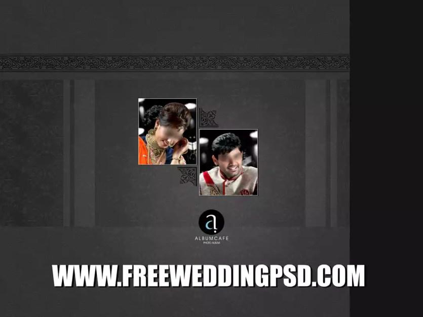 wedding album ped cover design psd