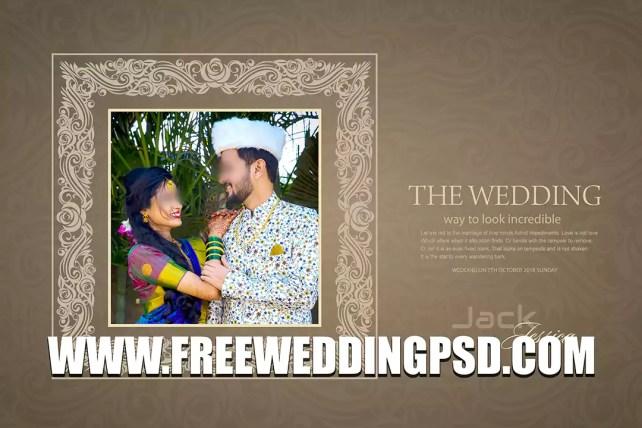 new wedding album design psd free download 2021