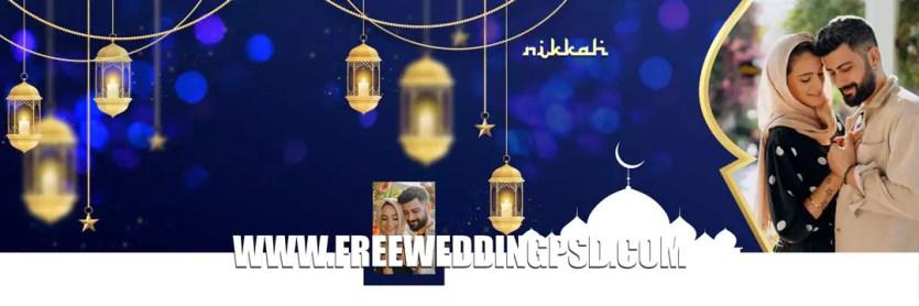 Muslim nikaah album psd 2021 download Templates