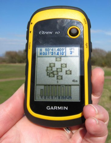 Using GPS receiver to find a cache
