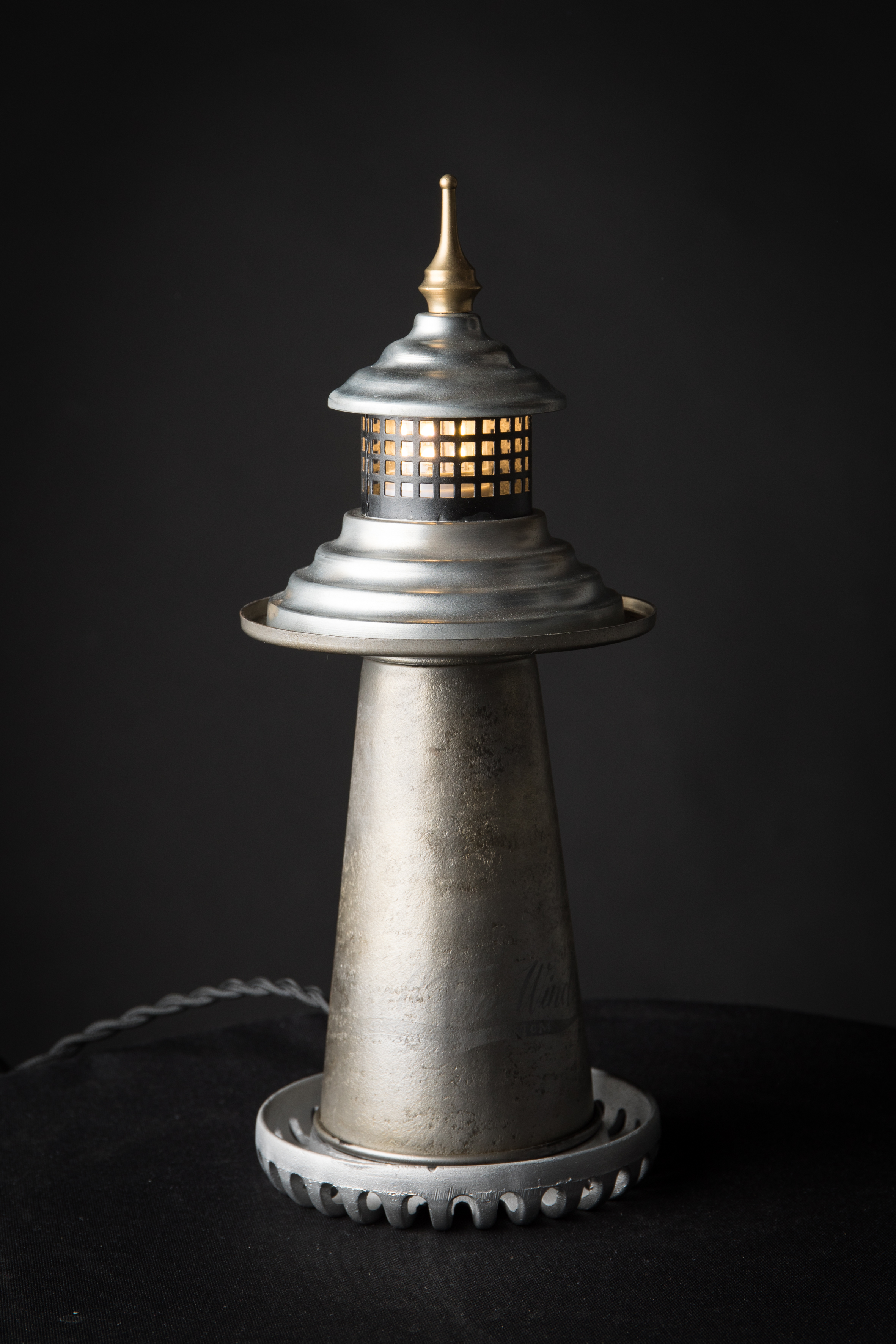 lampe vintage phare upcycling