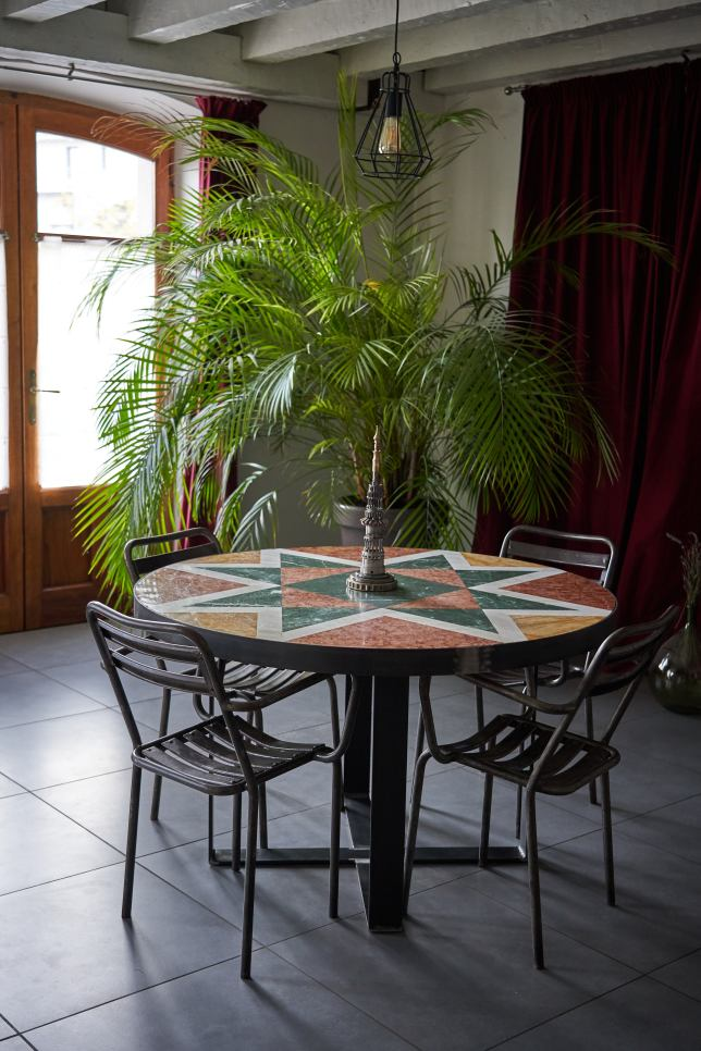 table marbre mobilier upcycling