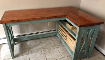 Rustic X Desk Free Woodworking Plan Com