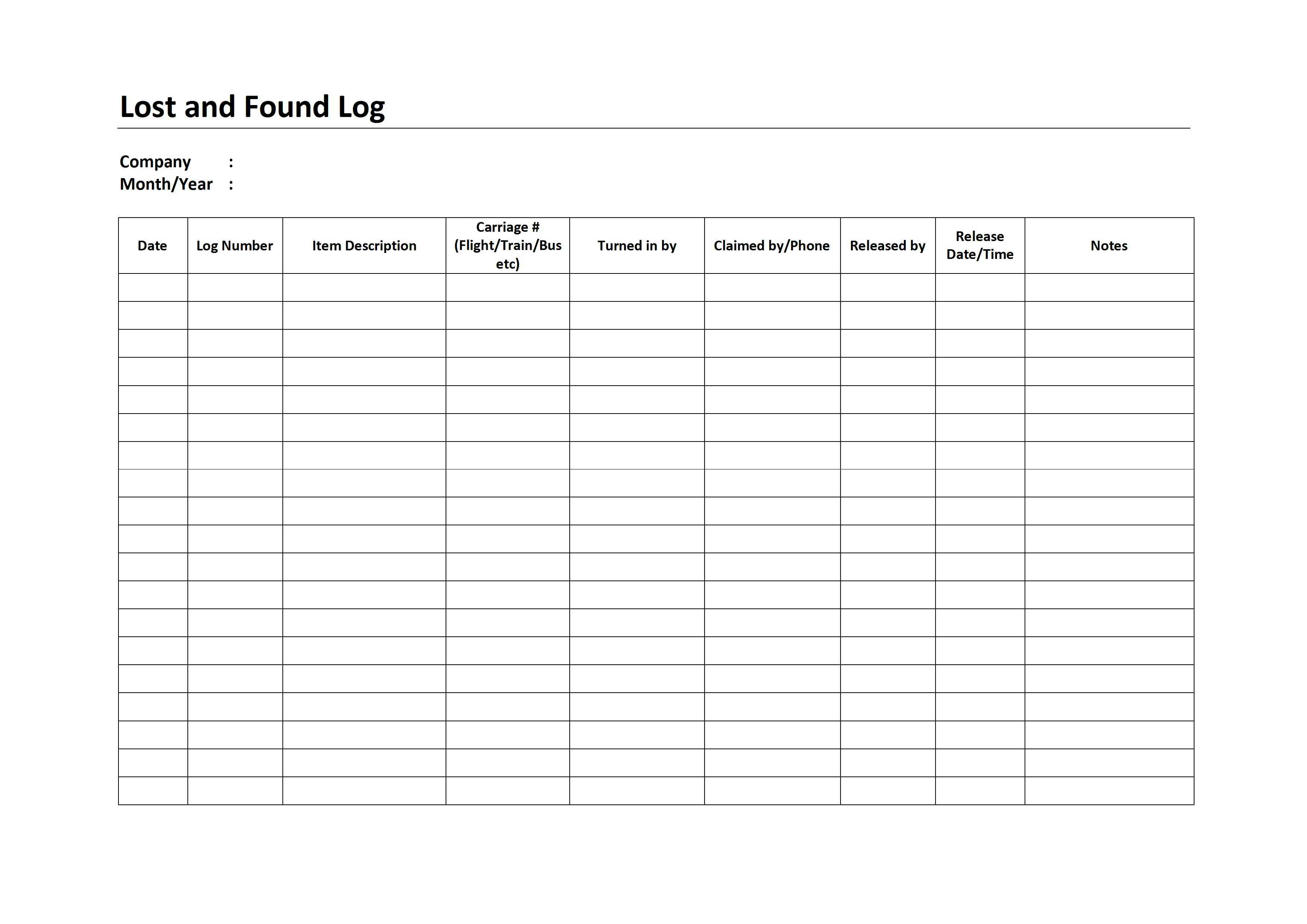 lost and found log freewordtemplates net