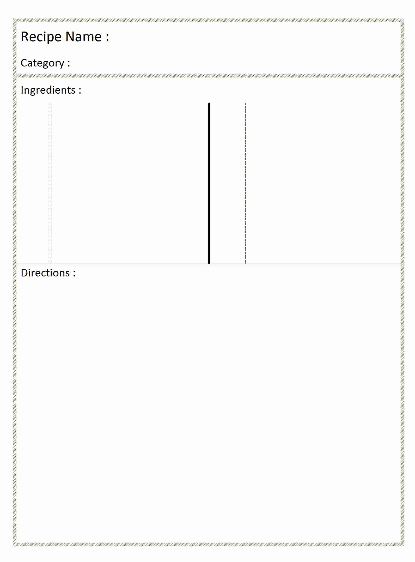 blank recipe card word templates free word templates ms word