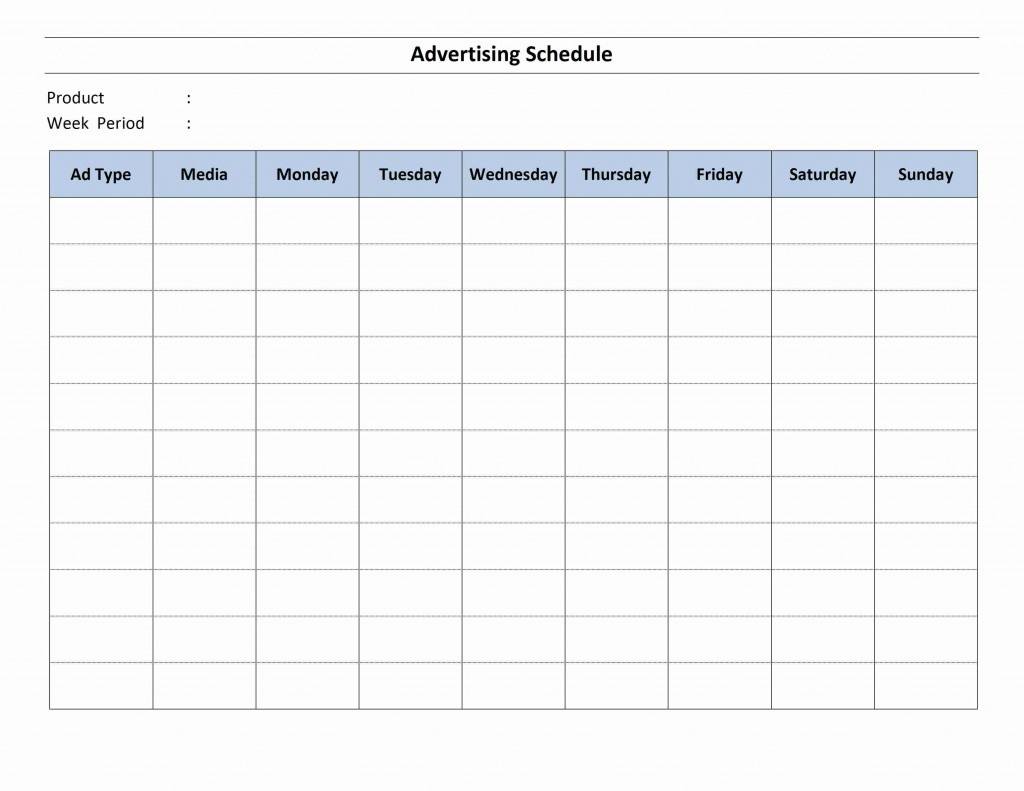 Advertising Schedule