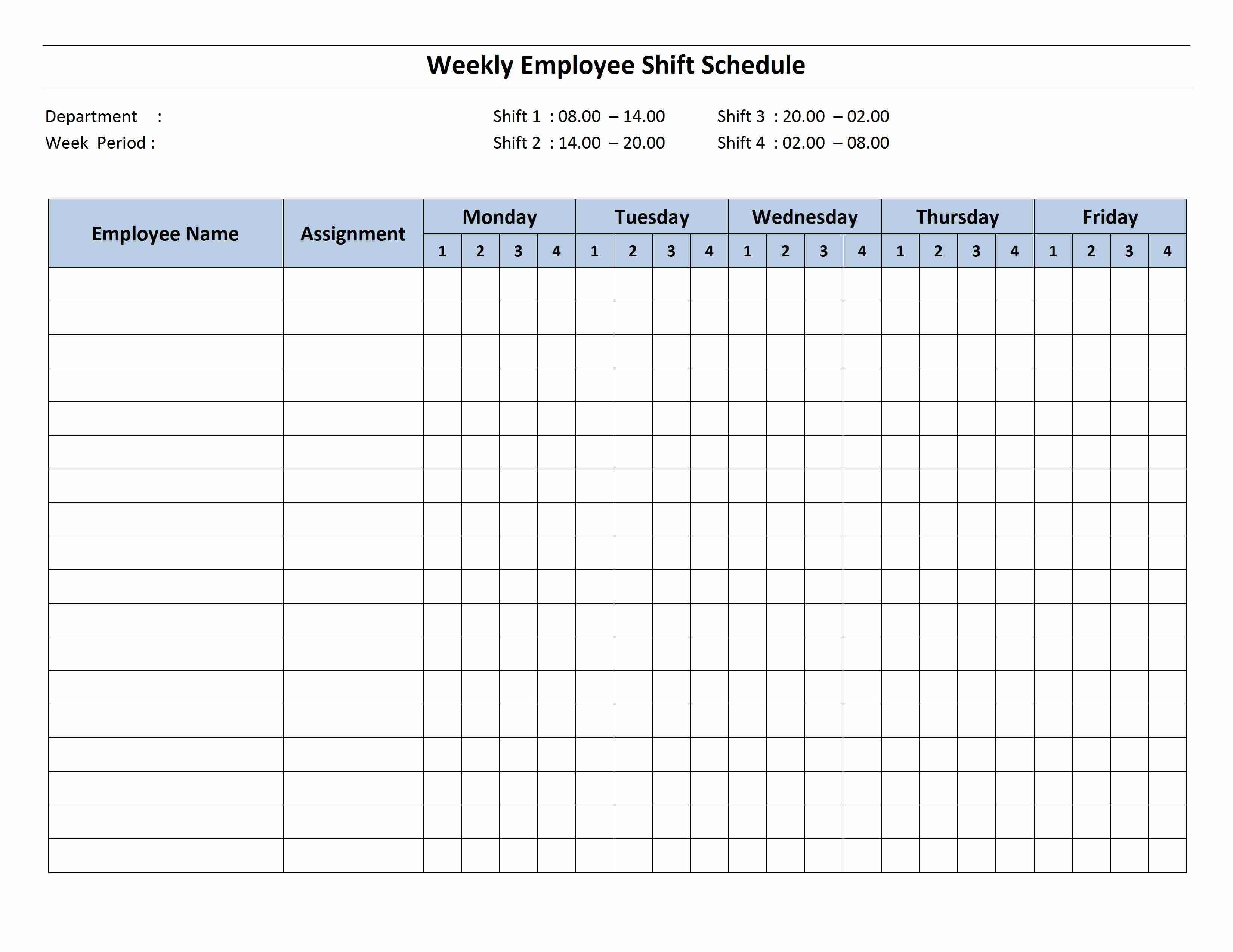 4 Shift Schedule