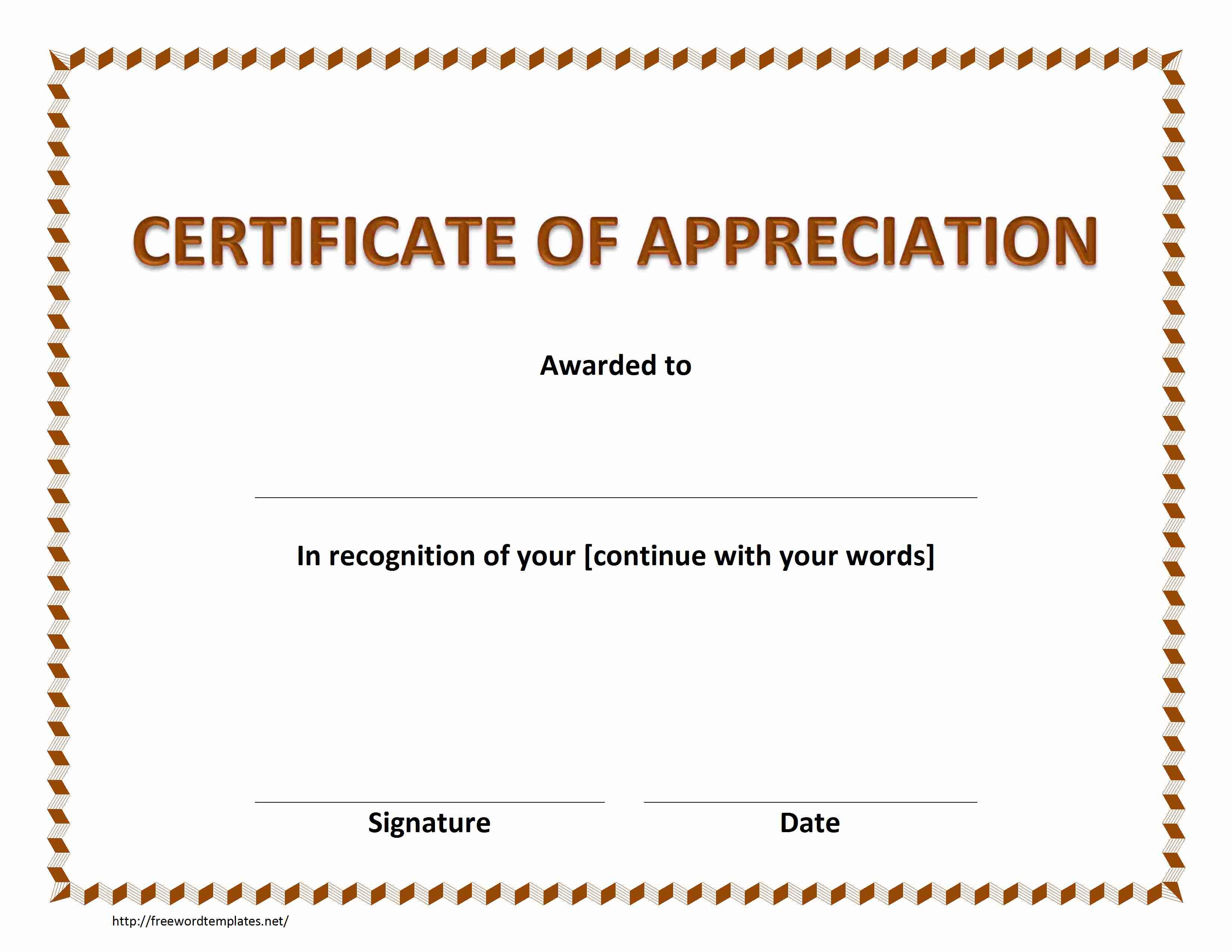 Word Certificate Template printable gift certificate templates – Gift Certificate Template Microsoft Word