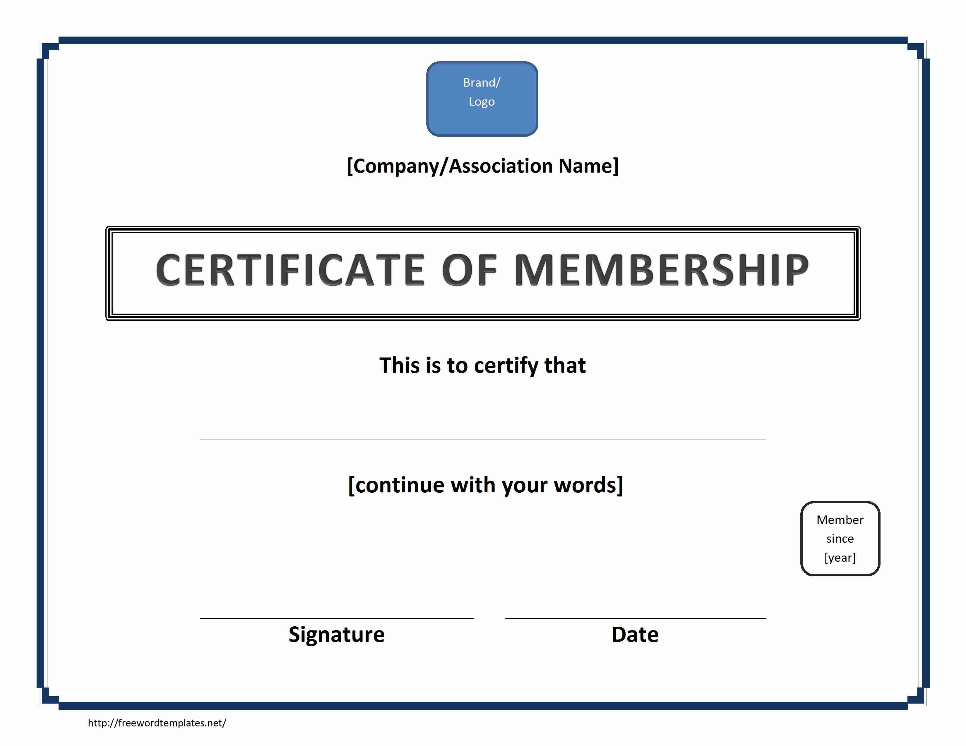Blank Certificate Template Word blank certificate templates for – Certificate Template Word