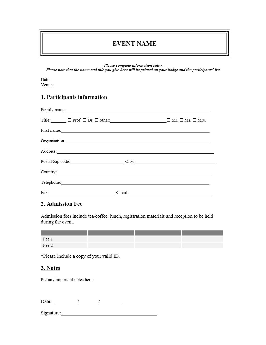 New Customer Registration Form Template teacher resume template word