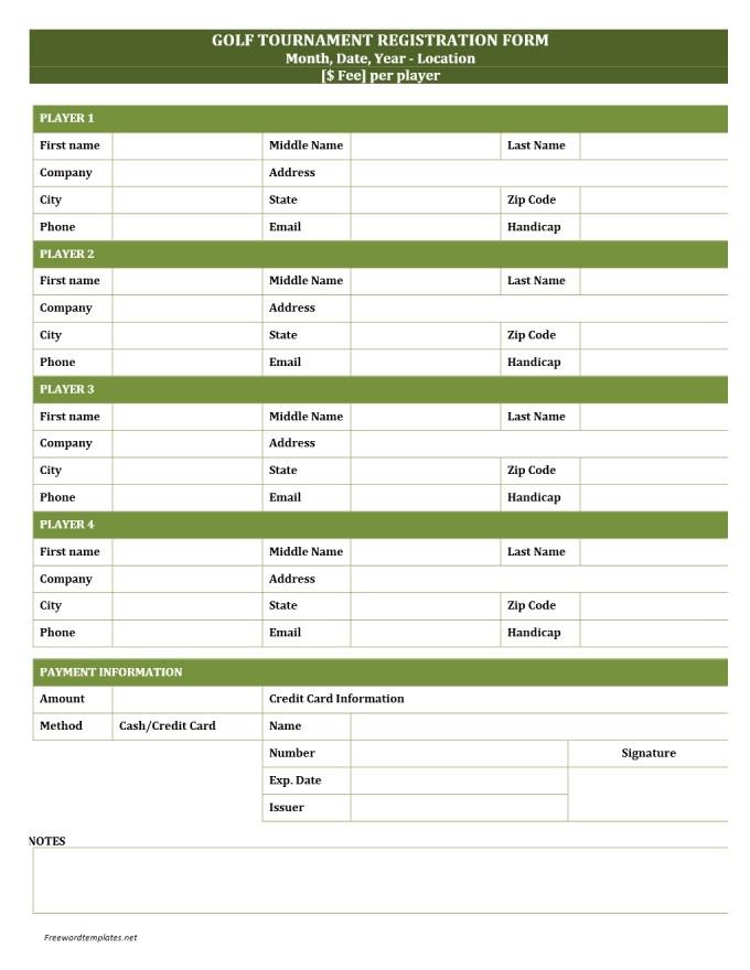 credit card information form