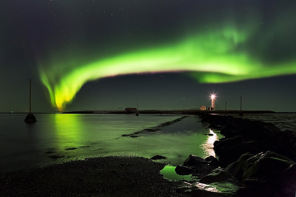 Northern Lights Aurora Borealis As Seen From Iceland