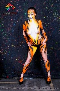 Tiger Body Painting