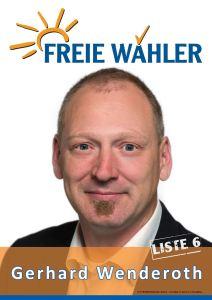 Gerhard Wenderoth Landtagswahl 2016