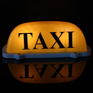 DC12V Auto Taxi Taxi Dachschild Licht Lampe Magnetic Yellow Large Size