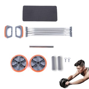 KALOAD 3 Stück Ab Roller Steel Pull Device Push Ups Bar Griffe Griffe Home Fitness Übungsgeräte