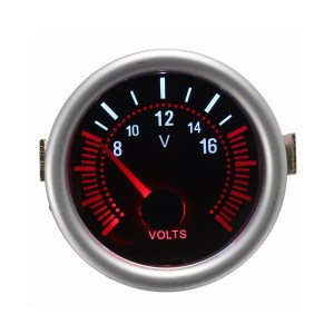 2Zoll52MM12V Weiß & Rot LED Auto Boot 8-16 Voltmeter Volt Spannung Messer Meter