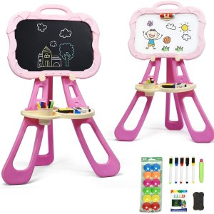 Kids Double Sided Easel Magnetic with Black and White Board