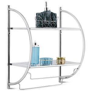 Wall Mounted Bathroom Shelves with Towel Holder